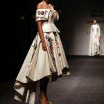 New Delhi: A model walks the ramp during designer Samant Chauhan's show at Amazon India Fashion Week Summer Spring 2017 in New Delhi on Oct 11,2017. (Amlan Paliwal/IANS) by .