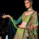 LAHORE, Oct. 17, 2017 (Xinhua) -- A model presents a creation by designer Nomi Ansari on the last day of the Pakistan Fashion Design Council (PFDC) Bridal Fashion Week in eastern Pakistan's Lahore on Oct. 16, 2017. (Xinhua/Jamil Ahmed/IANS) by .