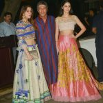 Mumbai: Actor Chunky Pandey with his daughter Ananya Pandey and wife Bhavna Pandey during a Diwali party hosted by actor Anil Kapoor in Mumbai, on Oct 19, 2017. (Photo: IANS) by .