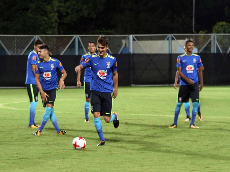 Kolkata: Brazilian players in action during a practice session of FIFA U17 World Cup 2017 Quarter Final in Kolkata, on Oct 20, 2017. (Photo: Kuntal Chakrabarty/IANS) by .