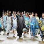 PARIS, Sept. 29, 2017 (Xinhua) -- Models present creations of Issey Miyake during the fashion week for 2018 spring/summer women's collection in Paris, France, on Sept. 29, 2017. (Xinhua/Piero Biasion/IANS) by .
