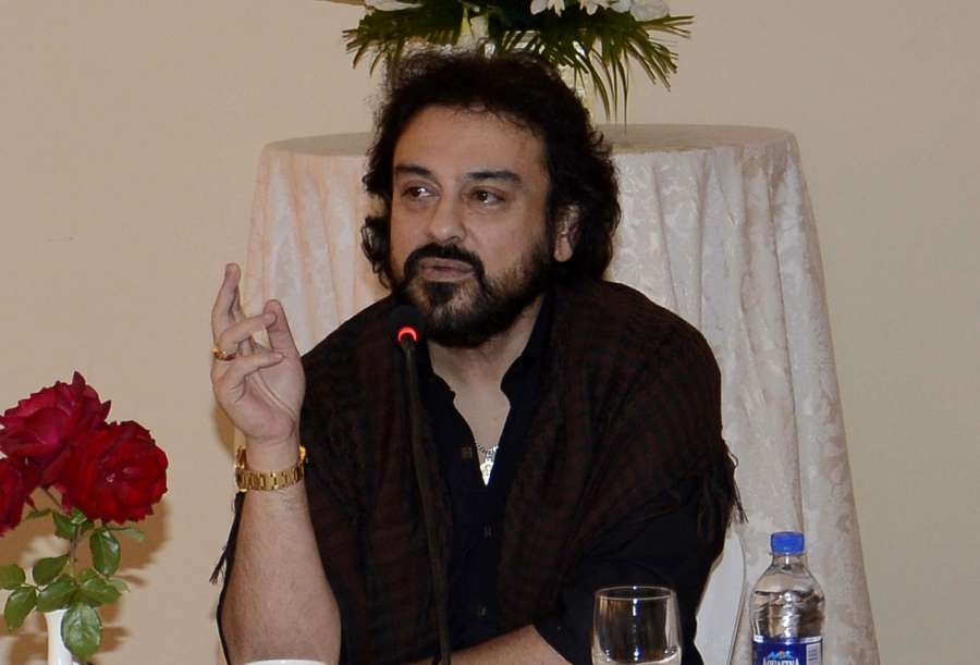 Srinagar: Singer Adnan Sami interacts with local artists in Srinagar on Oct 6, 2017. (Photo: IANS) by .