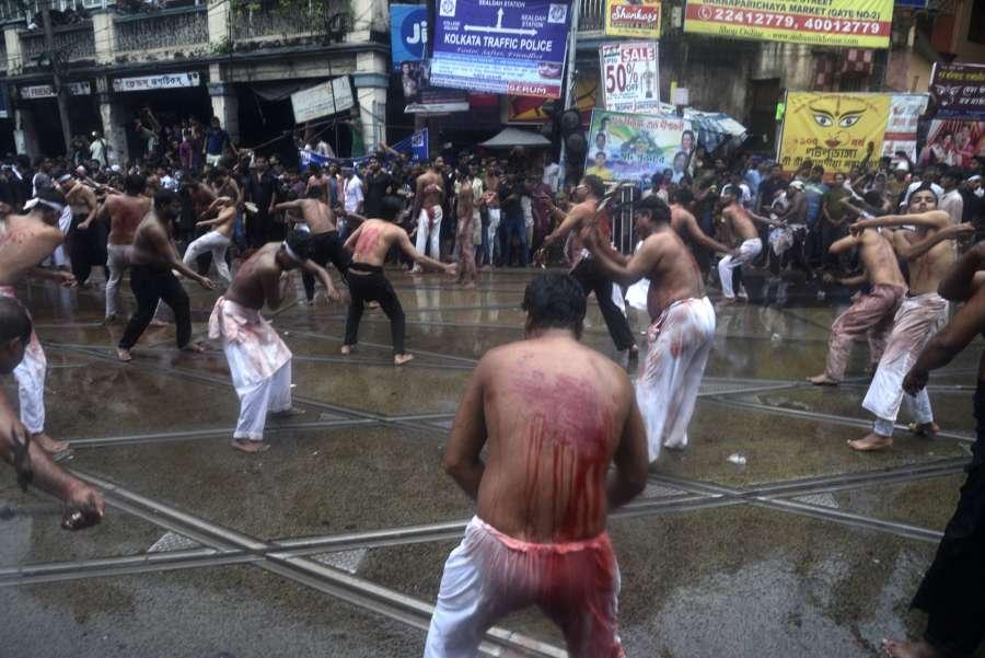 Kolkata: People participate in a Muharram procession in Kolkata on Oct 1, 2017. (Photo: Kuntal Chakrabarty/IANS) by .