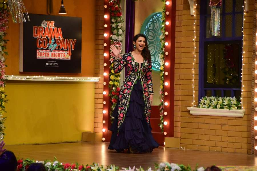 Mumbai: Actress Parineeti Chopra during the promotion of her upcoming film