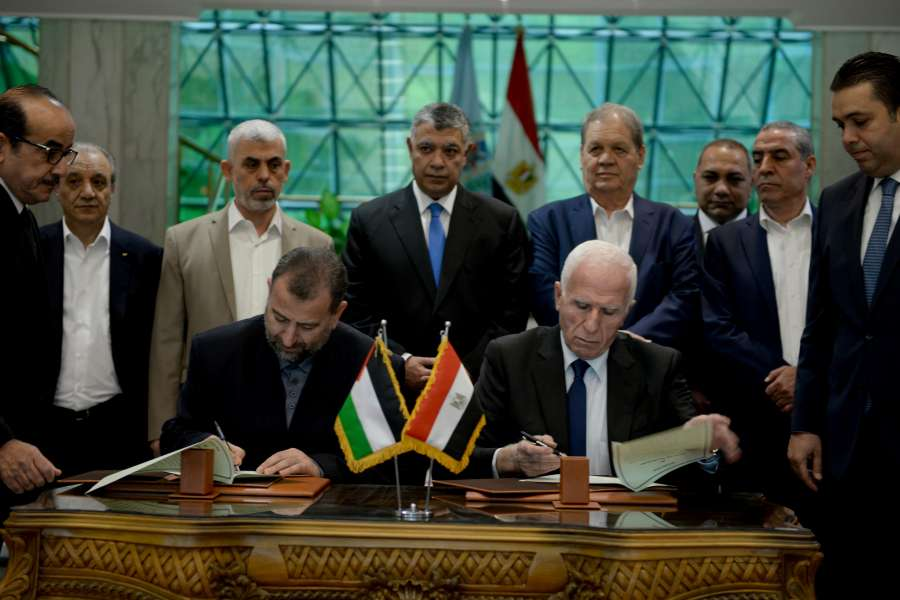 EGYPT-CAIRO-PALESTINIAN RECONCILIATION-AGREEMENT by .