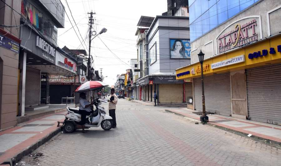 Kochi: Shops remain closed in Kochi during a strike called by Congress-led United Democratic Front (UDF) in Kerala against