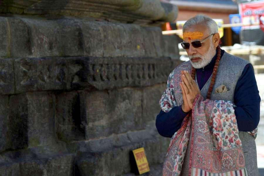 Kedarnath: Prime Minister Narendra Modi at Kedarnath Dhaam, in Uttarakhand on Oct 20, 2017. (Photo: IANS/PIB) by .