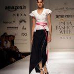New Delhi: A model walks the ramp during designer Wendell Rodricks' show at Amazon India Fashion Week Summer Spring 2017 in New Delhi on Oct 11,2017. (Amlan Paliwal/IANS) by .
