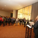 New York: India's Permanent Representative to the United Nations, Ambassador Syed Akbaruddin speaking at a reception to vote for Justice Dalveer Bhandari at a reception at United Nations on Nov. 20, 2017. (Photo: Mohammed Jaffer/IANS) by .