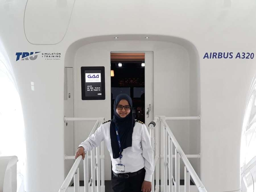 Syeda Salva Fatima, who will be flying an Airbus A320, wore a hijab during the entire course of her training in India and abroad. by .