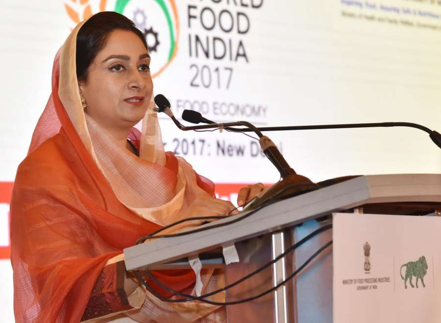 New Delhi: Union Food Processing Industries Minister Harsimrat Kaur Badal addresses a press conference ahead of World Food India 2017, in New Delhi on Nov 1, 2017. (Photo: IANS/PIB) by .