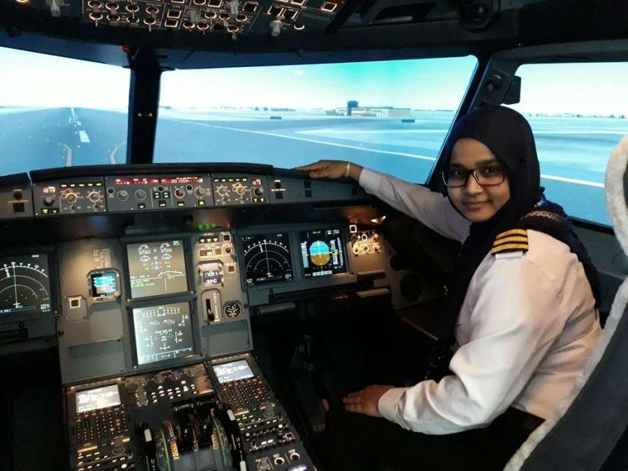 Hijab-wearing Syeda Salva Fatima is now all set to join an airline and is one of the very few Muslim women in India who hold a Commercial Pilot's License. by .