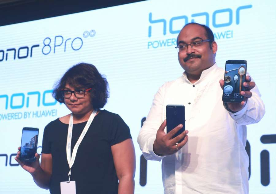 New Delhi: Huawei India-Consumer Business Group Vice-President Sales P Sanjeev at the launch of 'Honor 8 Pro' in New Delhi. (Photo: IANS) by .