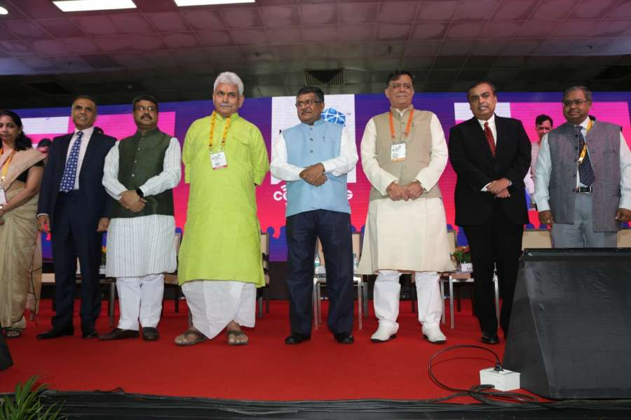 India Mobile Congress organised by Department of Telecom in New Delhi.