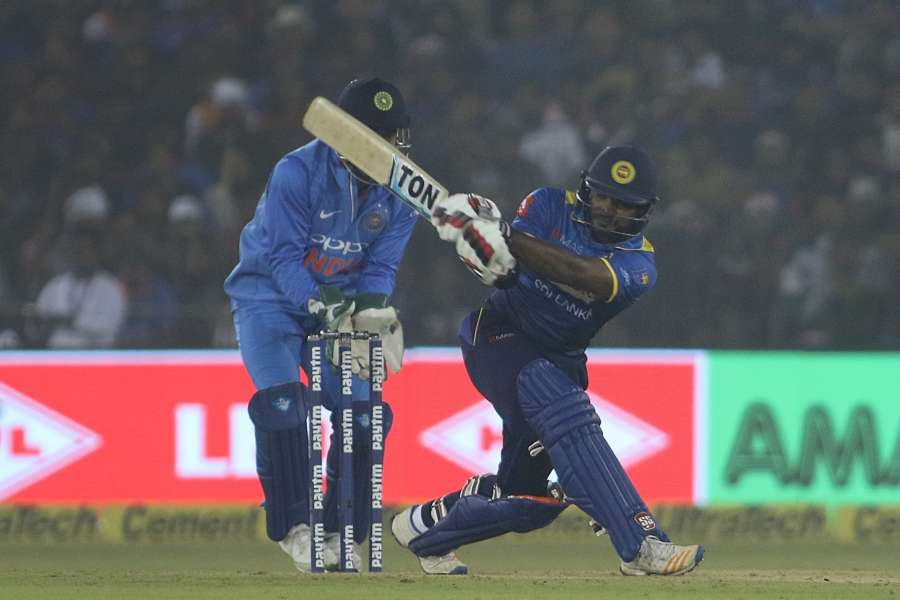 Cuttack: Kusal Perera of Sri Lanka in action during the first T20 match between India and Sri Lanka at Barabati Stadium in Cuttack. (Photo: Surjeet Yadav/IANS) by .