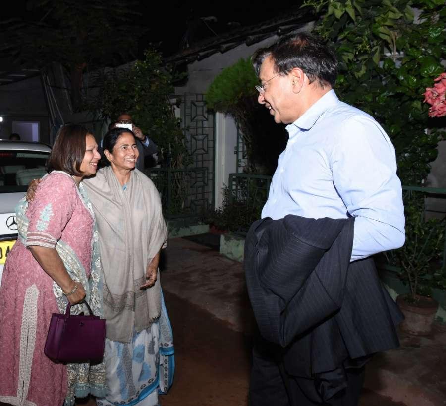 Kolkata: ArcelorMittal chairman and CEO Lakshmi Mittal calls on West Bengal Chief Minister Mamata Banerjee in Kolkata on Dec 2, 2017. (Photo: IANS) by .