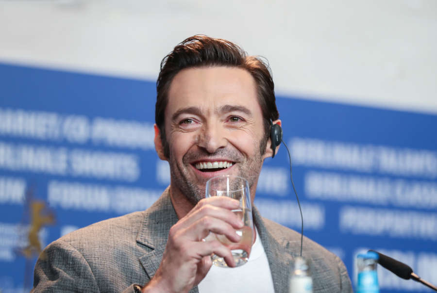 "Actor Hugh Jackman attends a press conference for the film ""Logan"". (Xinhua/Shan Yuqi)(gj) by ."
