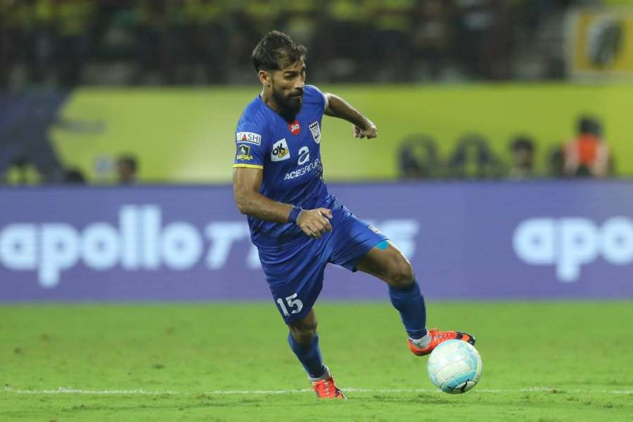 Kochi: Balwant Singh of Mumbai City FC in action during an ISL match between Kerala Blasters FC and Mumbai City FC at the Jawaharlal Nehru Stadium in Kochi,. (Photo: IANS)