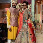 LAHORE, Dec. 11, 2017 (Xinhua) -- Models present creations by designer Ali Xeeshan on the last day of Bridal Couture Week in eastern Pakistan's Lahore on Dec. 10, 2017. (Xinhua/Jamil Ahmed/IANS) by .