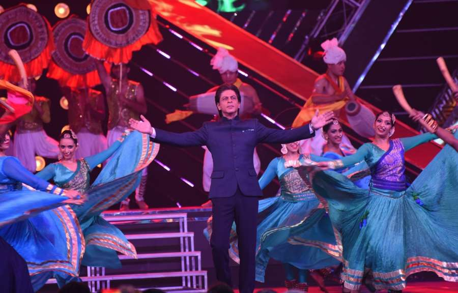 Bambolim: Actor Shah Rukh Khan performs during the opening ceremony of 48th edition of International Film Festival of India (IFFI) - 2017 at the Dr Shyama Prasad Mukherjee stadium in Bambolim, near Panaji, Goa on Nov 20, 2017. (Photo: IANS) by .