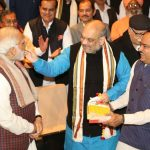 New Delhi: Prime Minister Narendra Modi, BJP president Amit Shah, Union Minister Ananth Kumar during the BJP Parliamentary Party meeting at Parliament House in New Delhi on Dec. 20, 2017. (Photo: Amlan Paliwal/IANS) by .