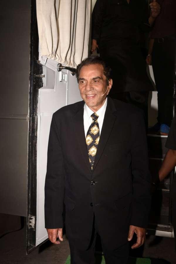 "Mumbai: Actor Dharmendra on the sets of television show ""The Drama Company"" in Mumbai. (Photo: IANS) by ."