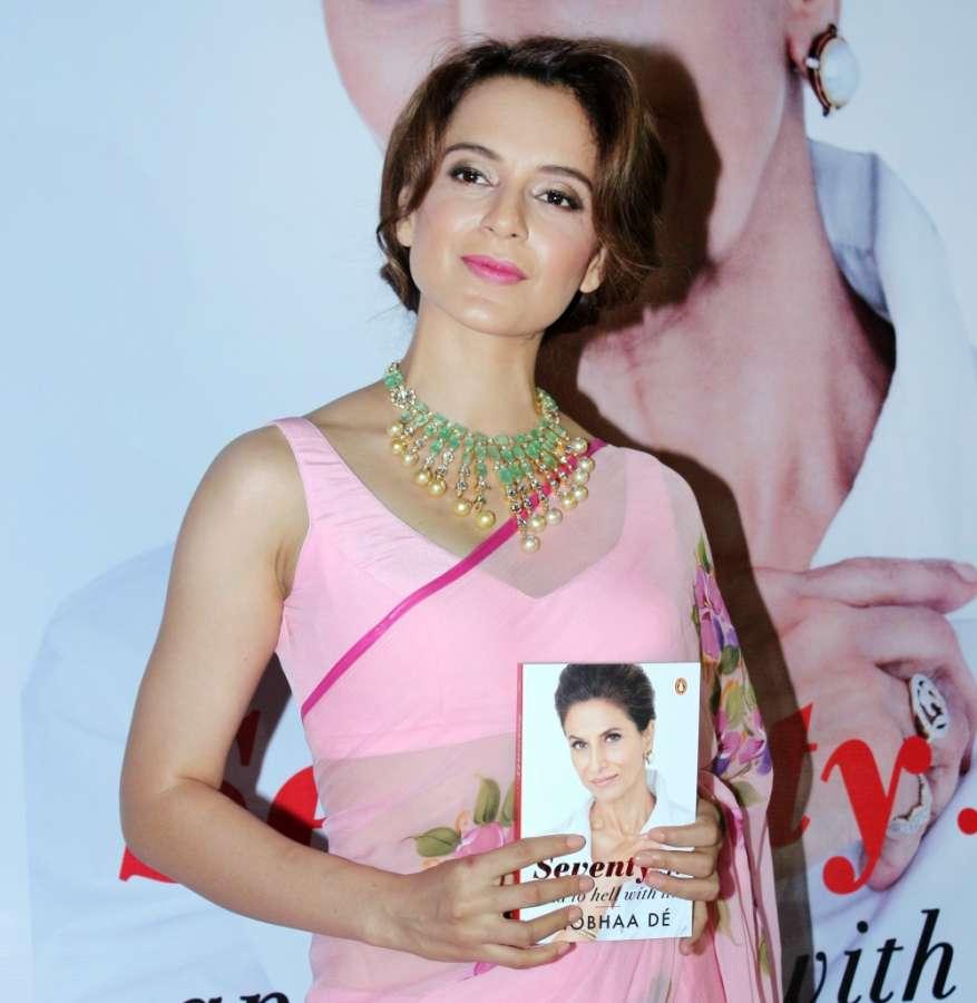 Mumbai: Actress Kangana Ranaut at the launch of a book in Mumbai on Dec 13, 2017. (Photo: IANS) by .