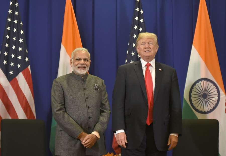 Manila (Philippines): Prime Minister Narendra Modi meets US President Donald Trump, in Manila, Philippines on Nov 13, 2017. (Photo: IANS/PIB) by .