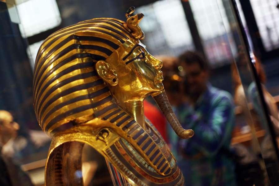 EGYPT-CAIRO-KING TUTANKHAMUN-CONFERENCE-MASK