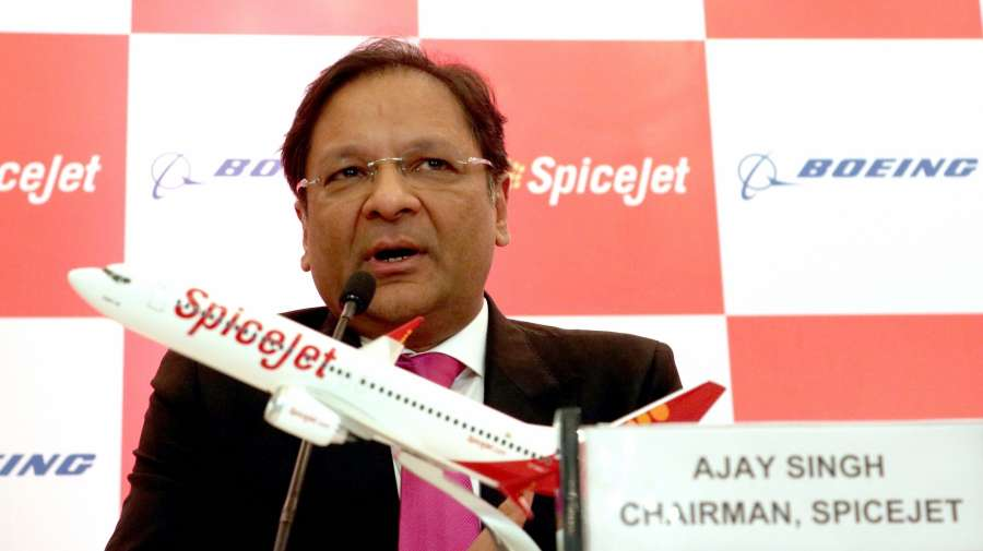 New Delhi: SpiceJet Chairman and Managing Director Ajay Singh during a programme organised to sign a joint venture between SpiceJet and Boeing in New Delhi. (Photo: IANS) by .