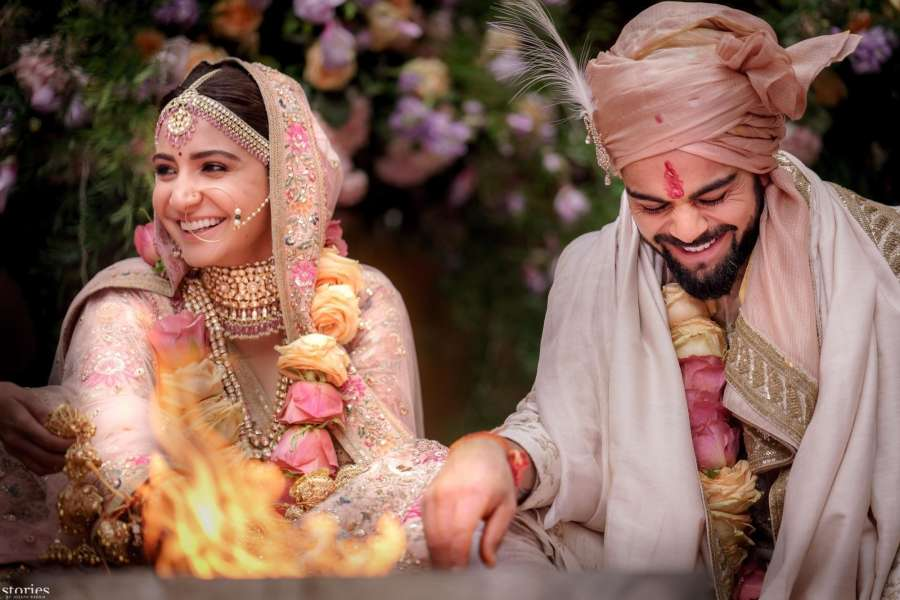 Florence (Italy): Indian cricket captain Virat Kohli gets married to actress Anushka Sharma in Florence, Italy on Dec 11, 2017. Virat and Anushka, who have been together for four years, chose the luxury heritage resort Borgo Finocchieto, a little over 100 km away from Florence, for their wedding. by .