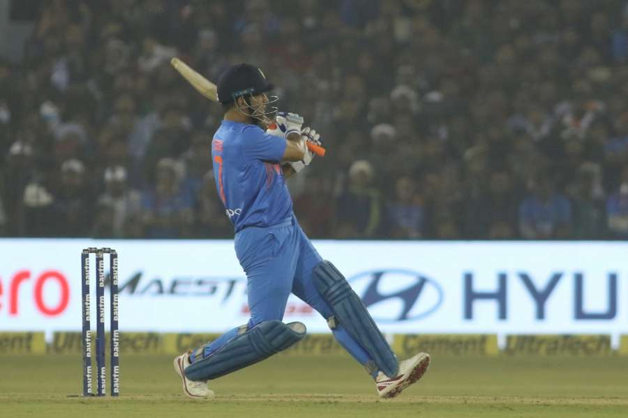Cuttack: MS Dhoni in action during the first T20 match between India and Sri Lanka at Barabati Stadium in Cuttack. (Photo: Surjeet Yadav/IANS) by .