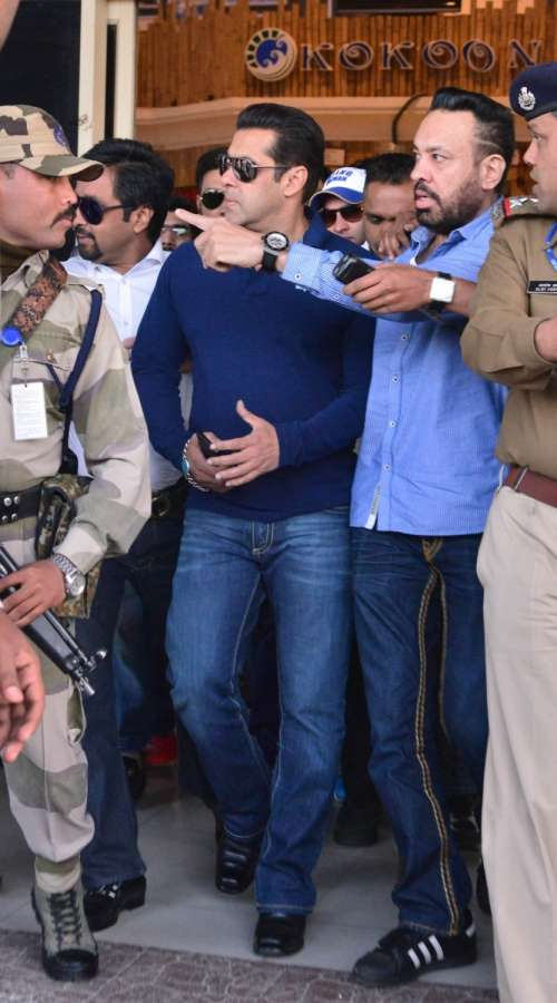 Actor Salman Khan with his bodyguard Shera. (File Photo: IANS) by .
