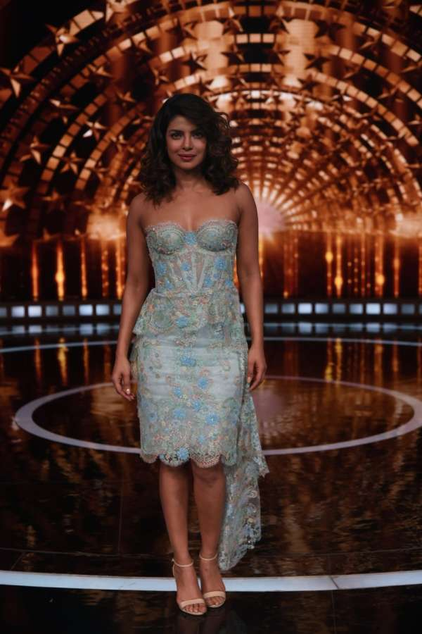 "Mumbai: Actress Priyanka Chopra on the sets of reality television show ""India's Next Superstars"" in Mumbai on Dec 22, 2017. (Photo: IANS) by ."