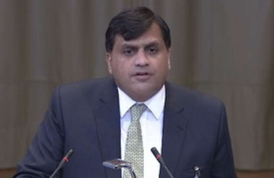 The Hague: A screengrab of Pakistan Director General (South Asia and SAARC) Dr Mohammad Faisal as he speaks at the International Court of Justice during a public hearing in the case of Kulbhushan Jadhav, the alleged Indian spy sentenced to death by a Paki by .