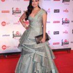 "Mumbai: Actress Dia Mirza at the red carpet of ""63rd Jio Filmfare Awards"" in Mumbai on Jan 20, 2018.(Photo: IANS) by ."