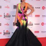 "Mumbai: Actress Sonali Bendre at the red carpet of ""63rd Jio Filmfare Awards"" in Mumbai on Jan 20, 2018.(Photo: IANS) by ."