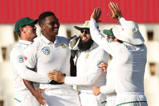 Centurion: Lungi Ngidi of South Africa celebrates fall of Virat Kohli's wicket during day 4 of the second Test match between South Africa and India at the Supersport Park Cricket Ground in Centurion, South Africa. (Photo: BCCI/IANS) (Credit Mandatory) by .