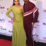 "Mumbai: Actors Huma Qureshi and Saqib Saleem at the red carpet of ""Filmfare Glamour & Style Awards 2017"" in Mumbai on Dec 1, 2017. (Photo: IANS) by ."