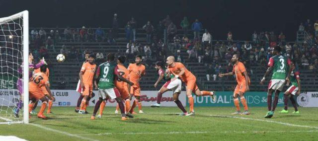 Kolkata: Players in action during an I-League match between Mohun Bagan and Chennai City in Kolkata. (Photo: IANS) by .