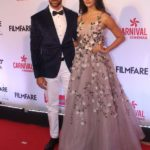 """Mumbai: Actors Hrithik Roshan and Pooja Hegde at the red carpet of """"Filmfare Glamour & Style Awards 2017"""" in Mumbai on Dec 1, 2017. (Photo: IANS) by ."""