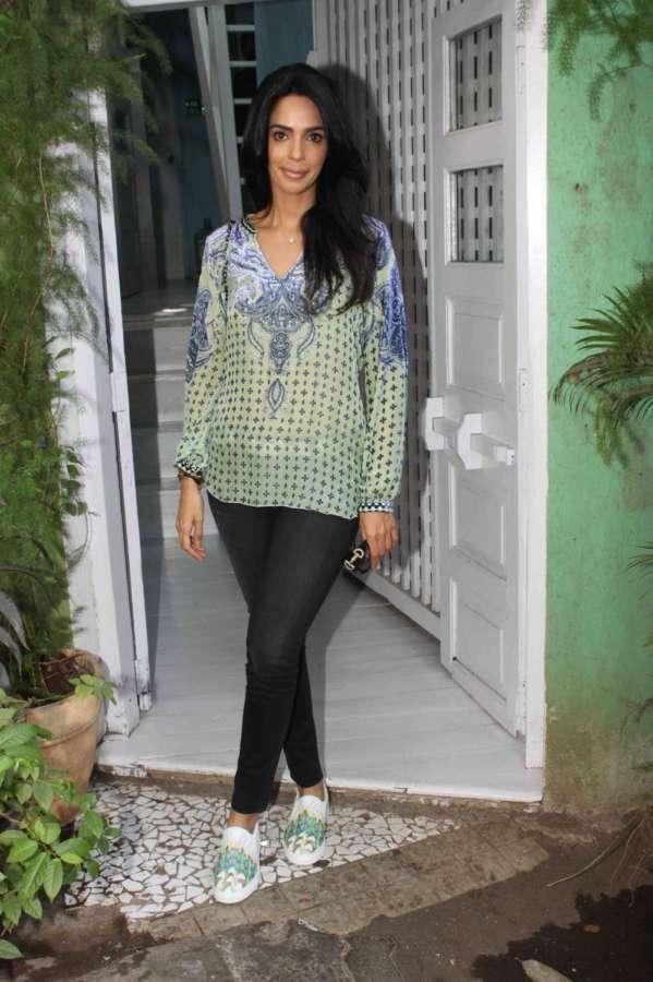 Mumbai: Actress Mallika Sherawat spotted in Bandra, in Mumbai. (Photo: IANS) by .