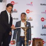 Mumbai: Actor Shah Rukh Khan during the press conference of 63rd Jio Filmfare Awards 2018 in Mumbai on Dec 26, 2017. (Photo: IANS) by .