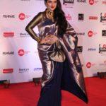 "Mumbai: Actress Rekha at the red carpet of ""63rd Jio Filmfare Awards"" in Mumbai on Jan 20, 2018.(Photo: IANS) by ."