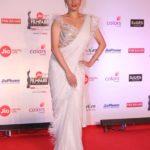 "Mumbai: Actress Ankita Lokhande at the red carpet of ""63rd Jio Filmfare Awards"" in Mumbai on Jan 20, 2018.(Photo: IANS) by ."