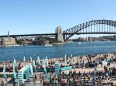 SYDNEY, Sept. 17, 2017 (Xinhua) -- Participants jog during the Bridge Run of the Sydney Running Festival in Sydney, Australia, on Sept. 17, 2017. Around 34,000 runners took part in the event. (Xinhua/Bai Xuefei/IANS) by .