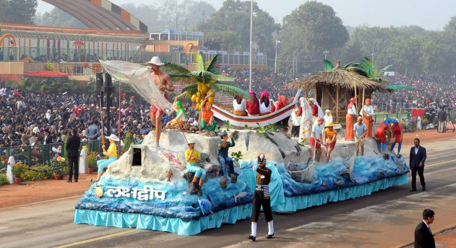 New Delhi: Tableau of Lakshadweep during Republic Day Parade 2018 on Rajpath in New Delhi Jan 26, 2018. (Photo: IANS/PIB) by .