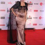 "Mumbai: Actress Tanisha Mukerji at the red carpet of ""63rd Jio Filmfare Awards"" in Mumbai on Jan 20, 2018.(Photo: IANS) by ."