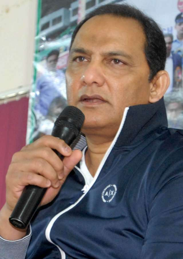 Hyderabad: Former Indian cricket captain Mohammad Azharuddin talks to the press in Hyderabad. (Photo: IANS) by .