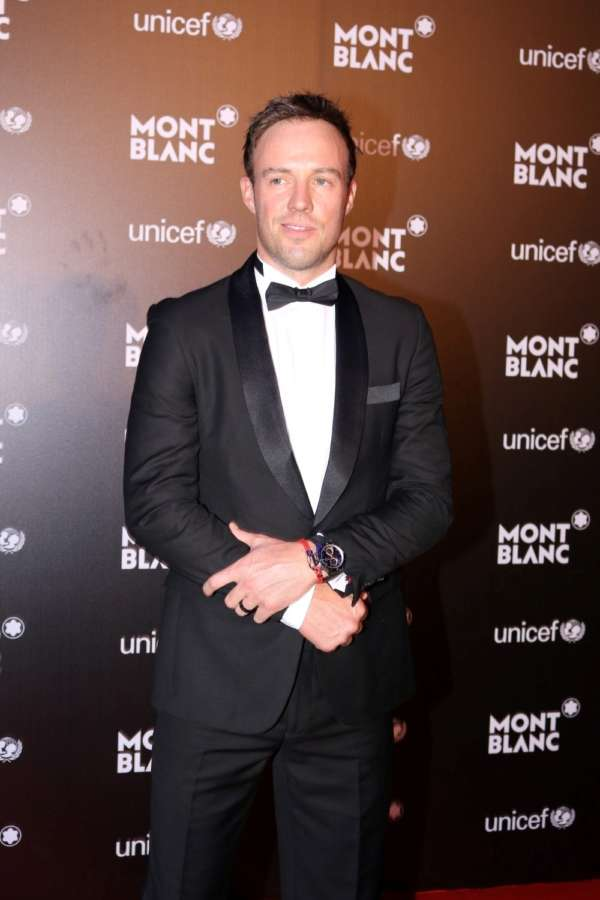 Mumbai: South African cricket player AB de Villiers during the Montblanc UNICEF event in Mumbai. (Photo: IANS) by .